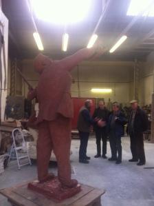 Sir Robert Watson-Watt Clay Statue