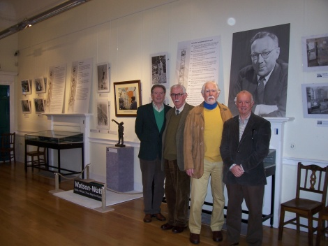 from Left : Brian Mitchell (Secretary), Donald McGilp, Stewart Hill (Chairman) and Steve Nicoll